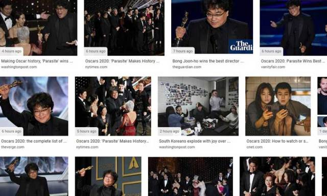 Google Parasite collage