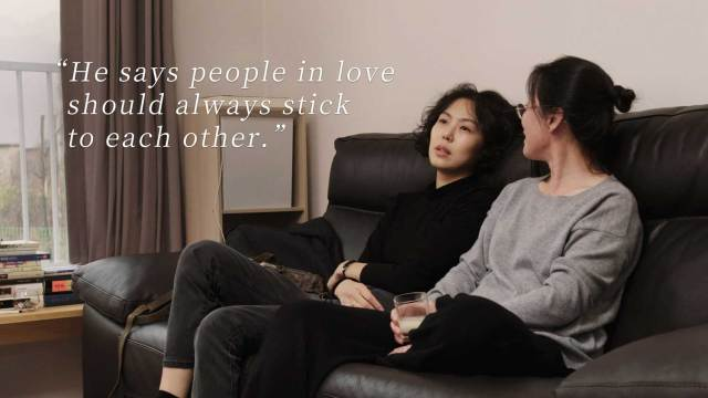 Gamhee (Kim Min-hee) with Young-soon (r, Seo Young-hwa)