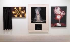 Young In Hong: A Deep Prayer, 2016; Burning with Triadic Harmony, 2016, Rhythmic Flowers, 2016