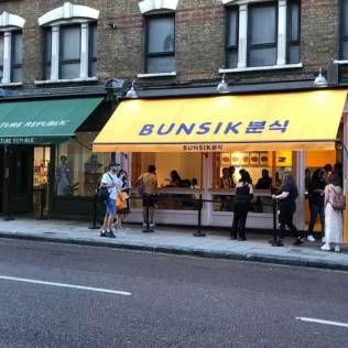 Bunsik corndogs in Charing Cross Road
