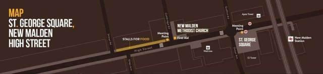 New Malden map