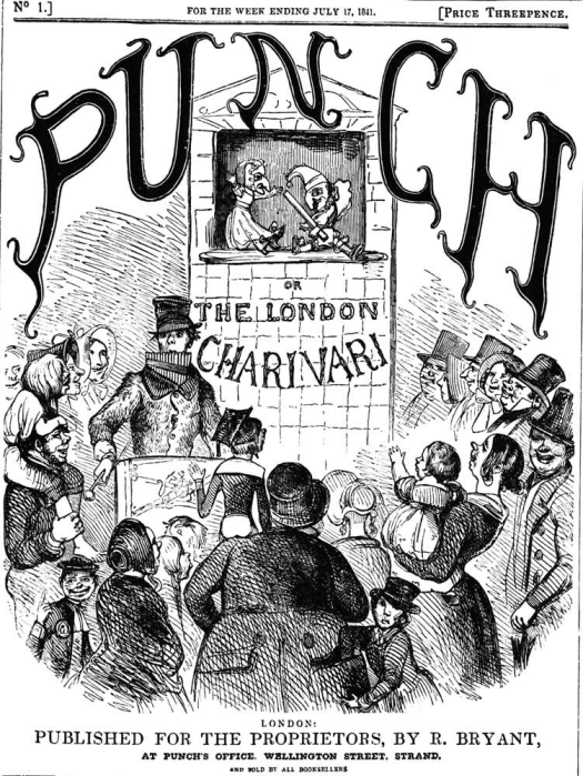 Figure 2 Cover of the first number of Punch or the London Charivari on sale as Mayhew paced the Strand