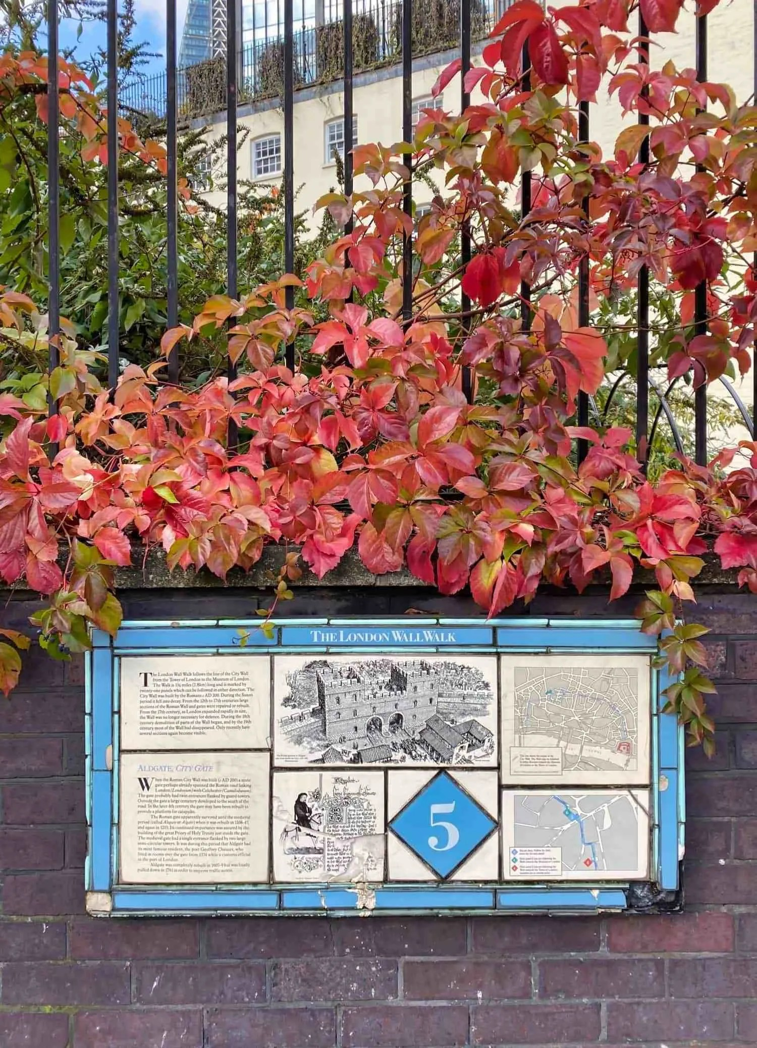 London Wall Walk - Plaque 5