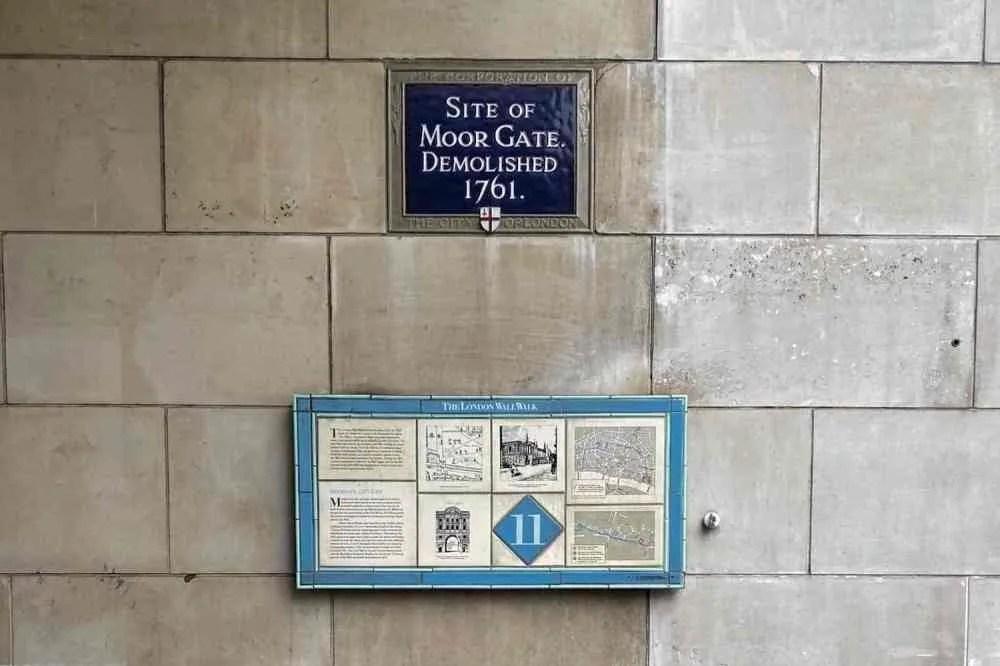 Moorgate London Wall Marker