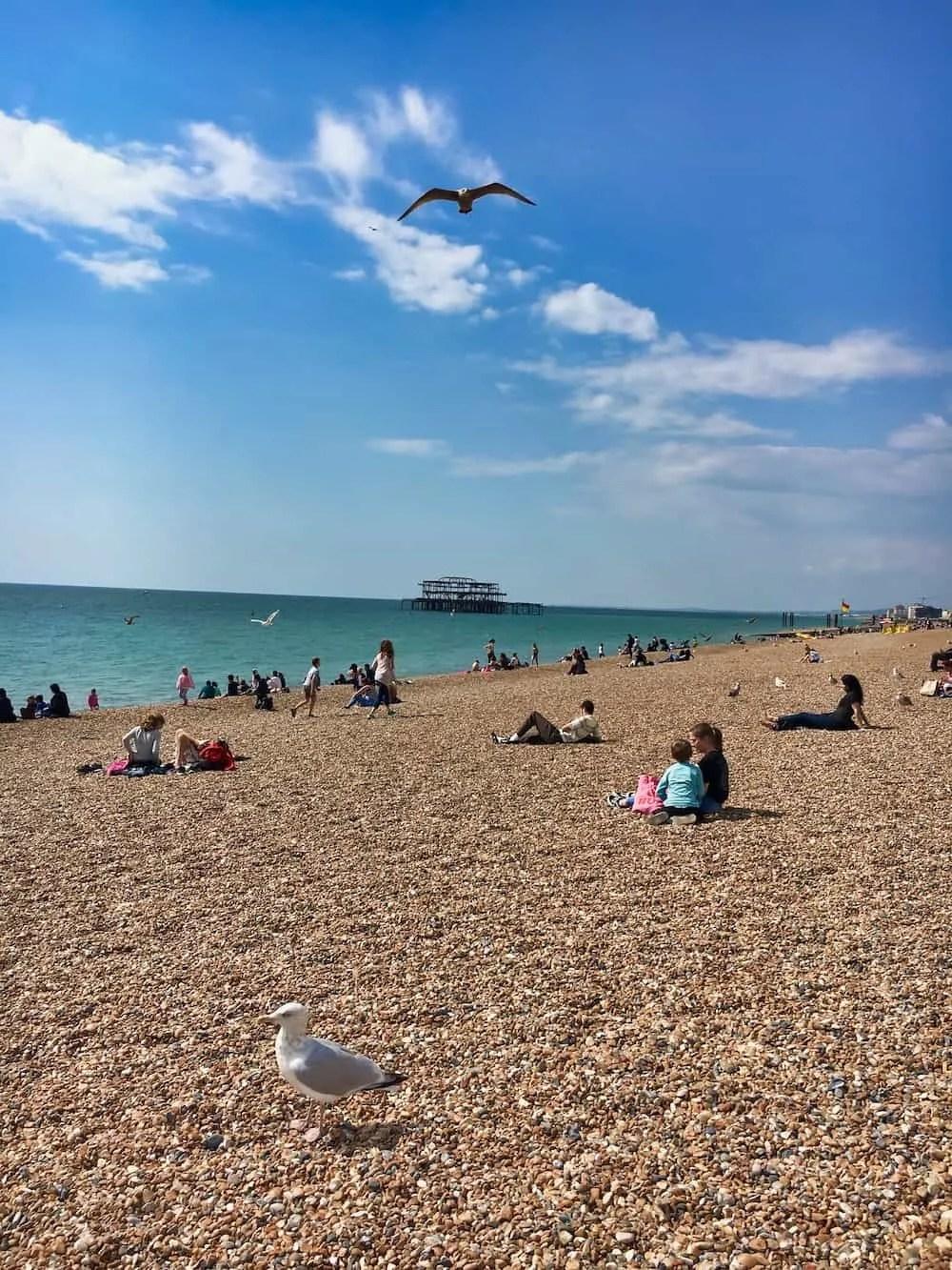 Brighton Beach Looking Toward the West Pier