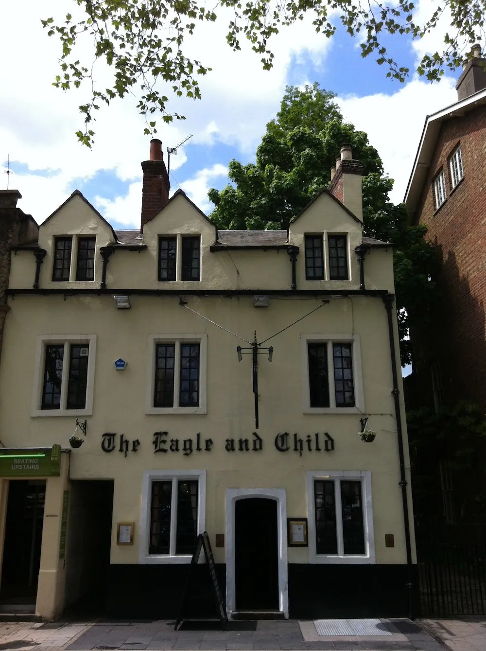 Oxford Day Trip - Exterior of the Eagle & Child Pub