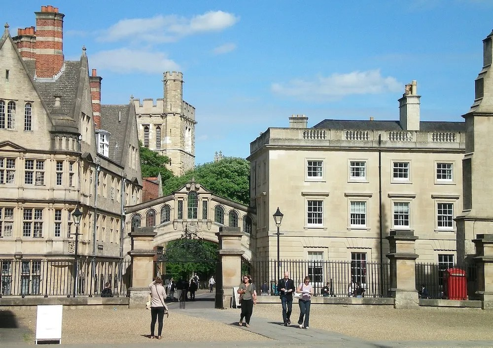 The Bridge of Sighs at Oxford University