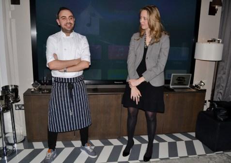 Head Chef Matt Laville and Olivia Byrne
