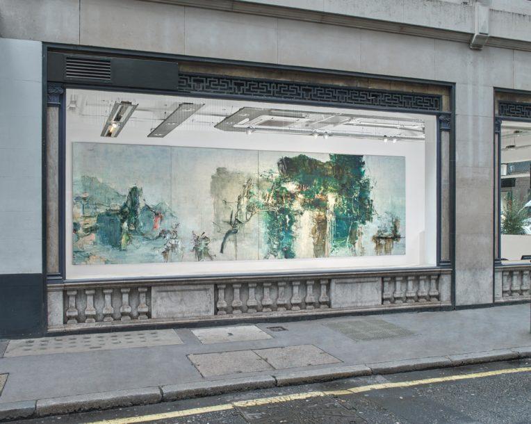 Installation view, Tu Hongtao: Twisting and Turning, Lévy Gorvy London, 2020. © Tu Hongtao. Photo: Stephen White & Co