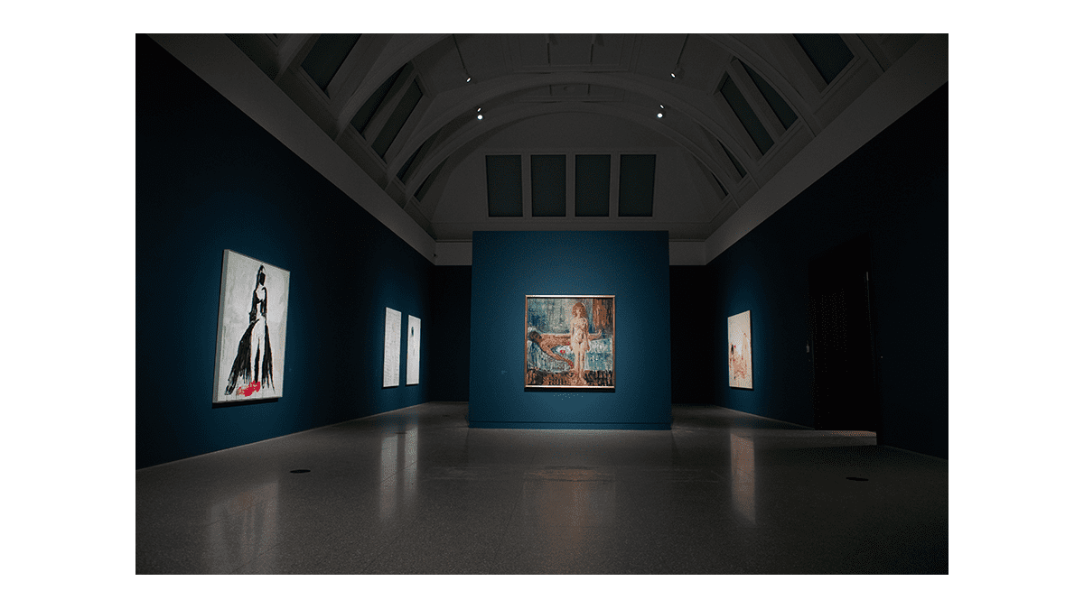 Gallery view of 'Tracey Emin/Edvard Munch: The Loneliness of the Soul', from 7 December 2020 until 28th February 2021, at the Royal Academy of Arts, London. Photo: © David Parry Exhibition organised by MUNCH, Oslo, Norway, in partnership with the Royal Academy of Arts