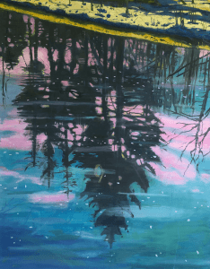 Adrian Gardner, To the below, 2021, Oil on linen, 71 x 91 cm, 30 x 36 in, © The Artist