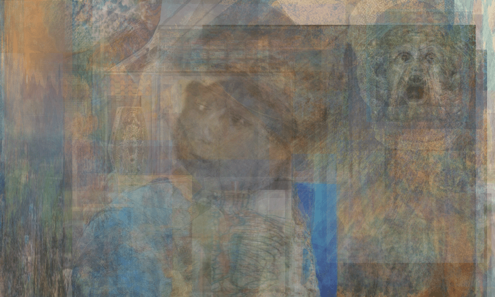 Christopher MacNeil, Boy in the Blue Coat, 2019-2020, Digital mixed media, 63.5 x 40.6 cm 25 x 16 in, © The Artist