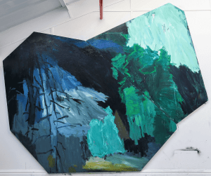 Diana Savostaite, Forest, 2020-2021, Oil on two handmade canvases, 294 x 242 cm, 115.7 x 95.2 in, © The Artist