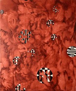 Jo Mason, Rose Windows, 2020, Oil on canvas, 92 x 61 cm, 36 x 24 in, © The Artist