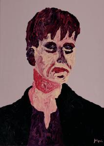 Josefina Ayllón, Untitled I, 2020, Acrylic on canvas, 70 x 50 cm, 27.5 x 19.6 in, © The Artist