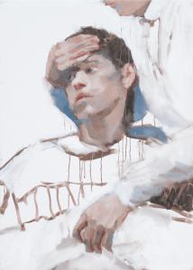 Morgan Ogilvie, Ammalati (Sick), 2019, Oil on canvas, 62 x 61 cm, 24.5 x 24 in, © The Artist