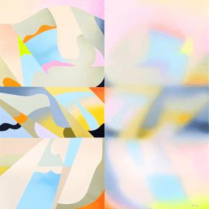 Natalia Ostapenko, Memories, 2021, Acrylic on canvas, 100 x 100 cm, 39.3 x 39.3 in, © The Artist