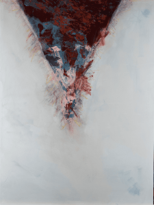 Paul Beaudoin, Rupture, 2020, Acrylic and mixed media on canvas, 76 x 102 cm, 30 x 40 in, © The Artist