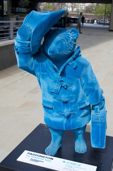 blue suede effect paddington bear