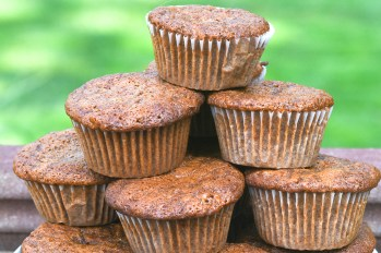Date Syrup and Carrot Muffins are tender and rich tasty treats. Credit: Copyright 2016 TheWeiserKitchen
