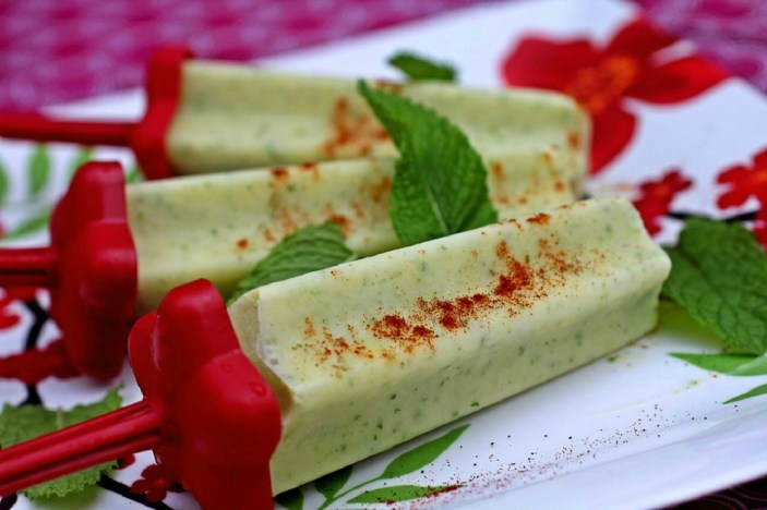 Ginger Pineapple Frozen Pop. Nothing says summer like a fresh-fruit ice pop. Freeze pineapple with ginger and lemon verbena for a cold sweet treat that's light and refreshing. Credit: Copyright 2016 Rinku Bhattacharya