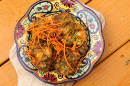 Thyme, Cilantro and Cumin Shrimp Fritters. On a cool and rainy summer evening, whip up a batch of crisp and spicy fritters with shrimp, serrano chilies, thyme, cilantro and cumin. Credit: Copyright 2016 Rinku Bhattacharya