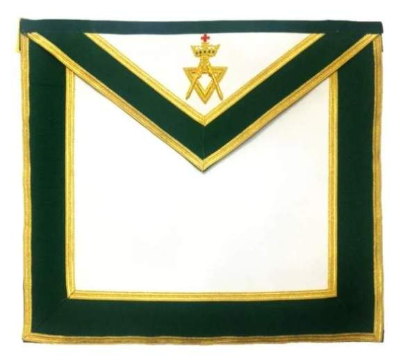 Allied Masonic Degree AMD Past Sovereign Master Apron Hand Embroidered