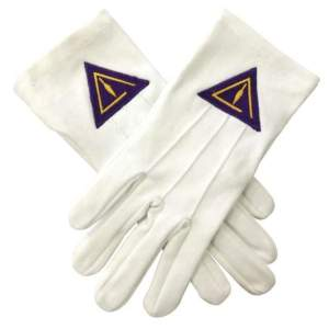 High Quality Royal & Select White Cotton Masonic Glove
