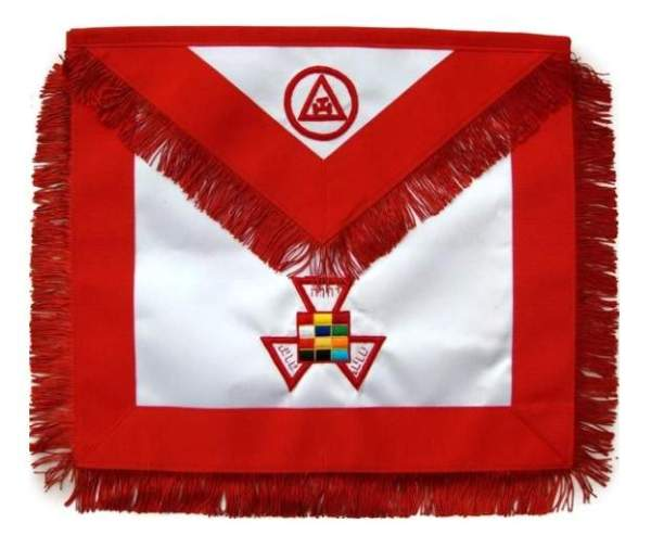 Masonic Royal Arch Past High Priest PHP Apron Hand Embroidered