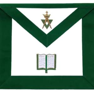 Allied Masonic Degree AMD Hand Embroidered Officer Apron - Chaplain