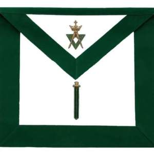 Allied Masonic Degree AMD Hand Embroidered Officer Apron - Sentinel