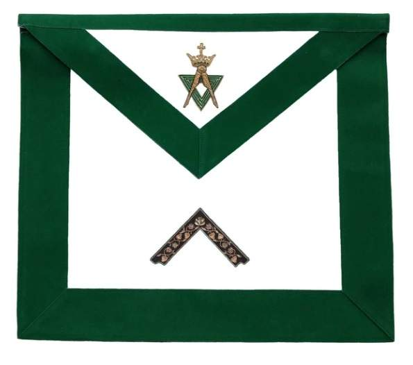 Allied Masonic Degree AMD Hand Embroidered Officer Apron - Worshipful Master