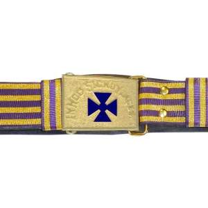 Knight Templar Past Grand Commander Sword Belt with straps