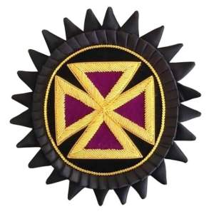 Knights Templar Chapeau Rosettes - Bullion Embroidered - Past Grand Commander Purple londonregalia.com