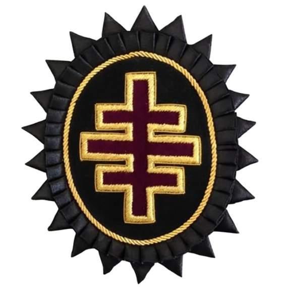 Knights Templar Chapeau Rosettes - Bullion Embroidered - Past Grand Master londonregalia.com