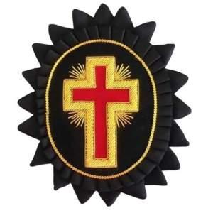 Knights Templar Chapeau Rosettes Past Commander with rays londonregalia.com