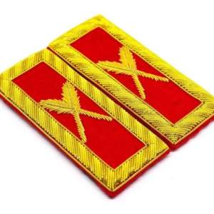 Knights Templar Shoulder Boards - Bullion Embroidered grand secretary