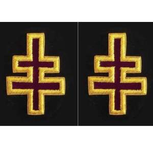 Knights Templar Sleeve Crosses Encampment Officer