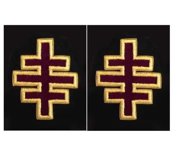 Knights Templar Sleeve Crosses past grand master Encampment Officer