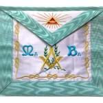 Masonic Apron Master Mason French Rite sky Blue