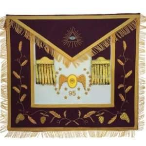 Masonic Scottish Rite 95th Degree Hand embroidered Set Apron Collar Cap Gauntlets