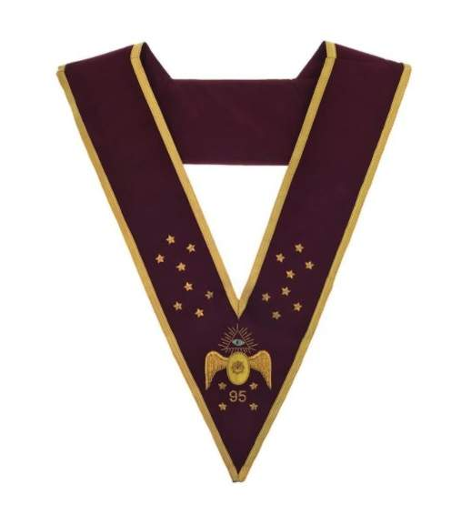 Masonic Scottish Rite 95th Degree Hand embroidered Cap Crown