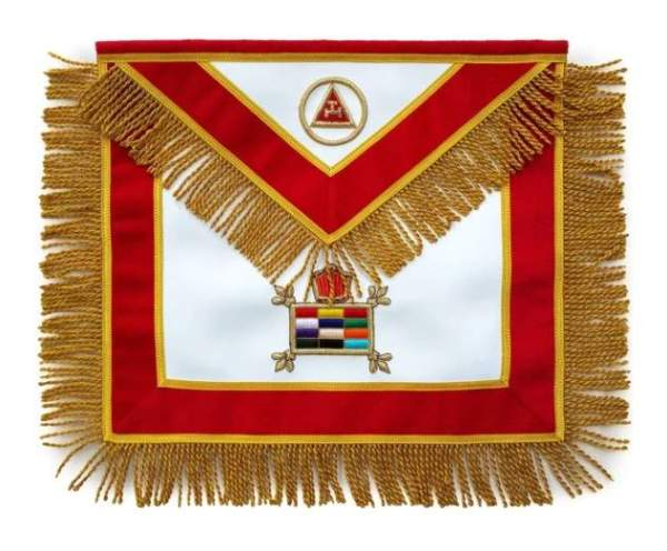 Masonic apron Massachusetts Chapter Hand Embroidered