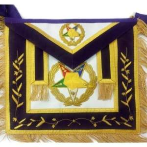 Order of the Eastern Star OES Grand Associate Patron Masonic Apron