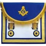 Scottish Rite Master Mason Handmade Embroidery Apron – Blue Yellow
