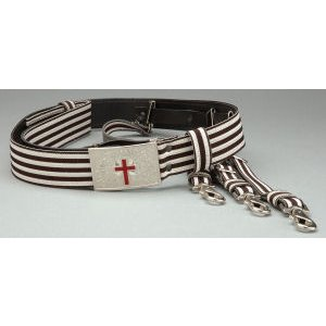 knight templar belt sir knight black and silver with straps