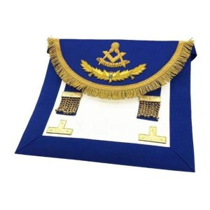 Scottish-Rite-Past-Master-Handmade-Embroidery-Apron-Blue-with-Vinework