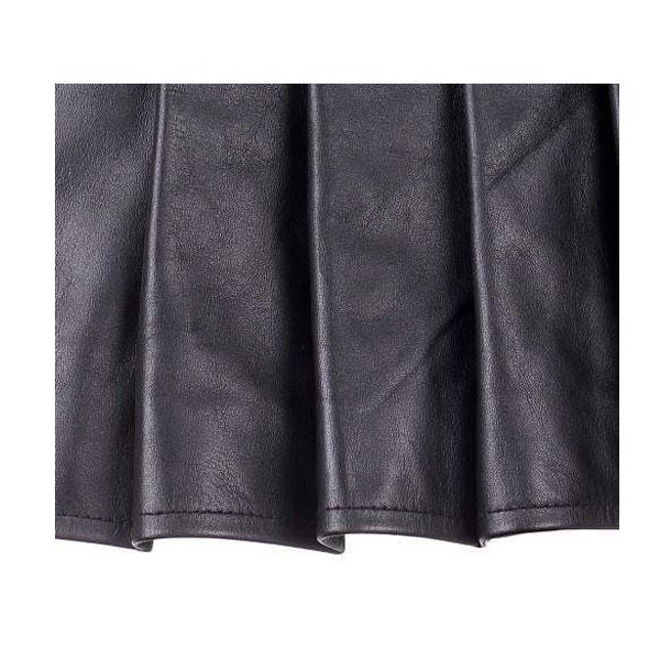 Ladies Black Leather Mini Kilt