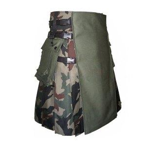 Men Camouflage Kilt