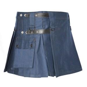 Navy Blue Utility Kilt For Women